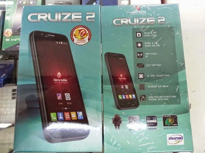 Cherry Mobile Cruize 2: Specs, Price and Availability