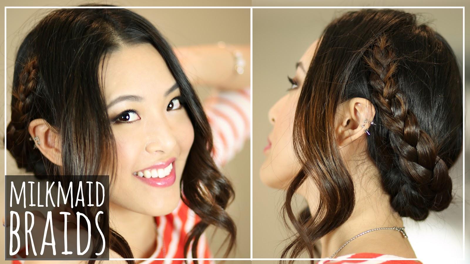Festival Hair: EASIEST Milkmaid Braid Tutorial - From Head ...