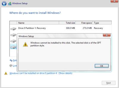 menginstal sistem operasi windows pada komputer ataupun laptop pekerjaan yang sangat muda Cara Mengatasi Gagal Instal Windows 10 Karena GPT Partition Style