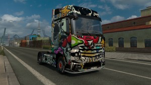 Bizarre Graffiti skin for Mercedes Actros