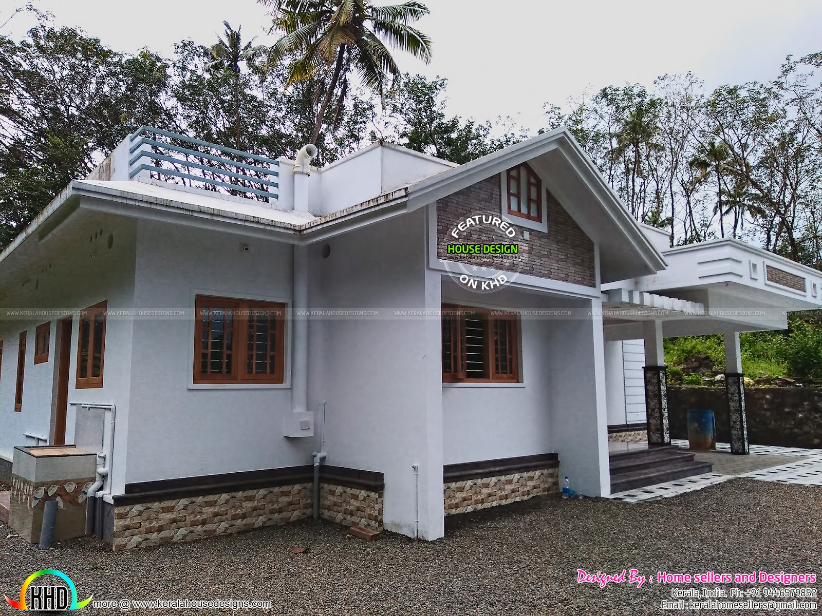3 bedroom 1400 sq ft house kerala home design and floor for Cost to build a 1400 sq ft house