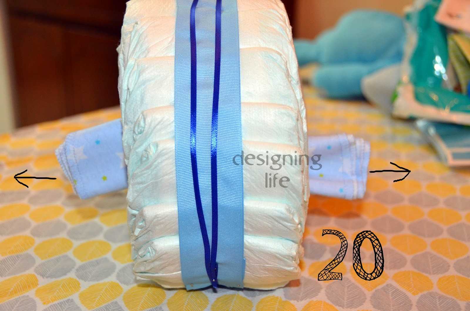 how to make a bike out of diapers
