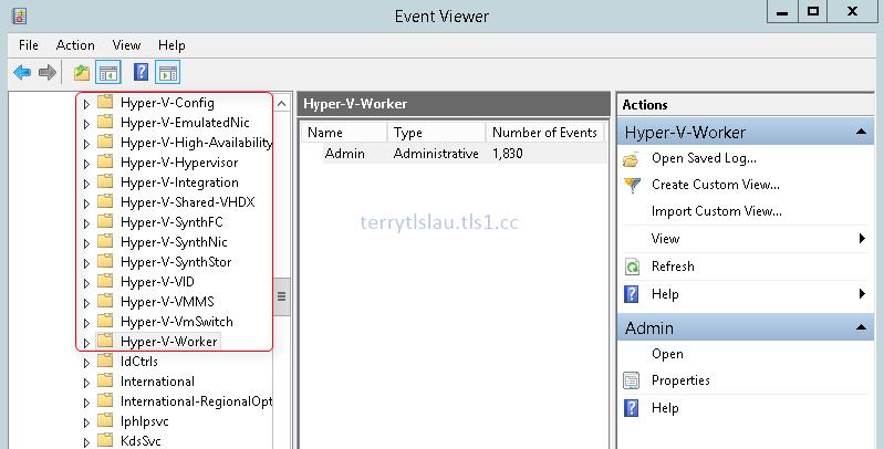 Terry L@u's blog: Read Hyper-V Event Log