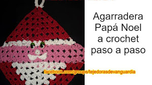 Agarradera Crochet Papá Noel Paso a Paso