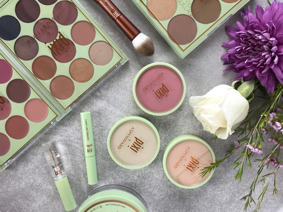 This close up features the #ItsJudyTime collaborative eyeshadow and lip palettes from Pixi Beauty.