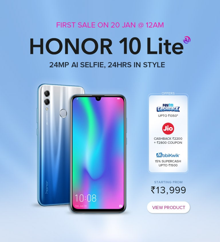 Honor 10 Lite price revealed on Flipkart they priced at Rs
