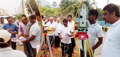 ETS DGPS GPS total station surveyors in vijayawada visakhapatnam
