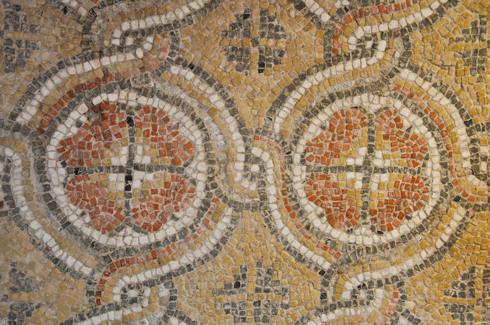 Mosaics from the early Christian Episcopal Basilica of the ancient Odessos - 5th century, Aladza Monastery, Varna, Bulgaria