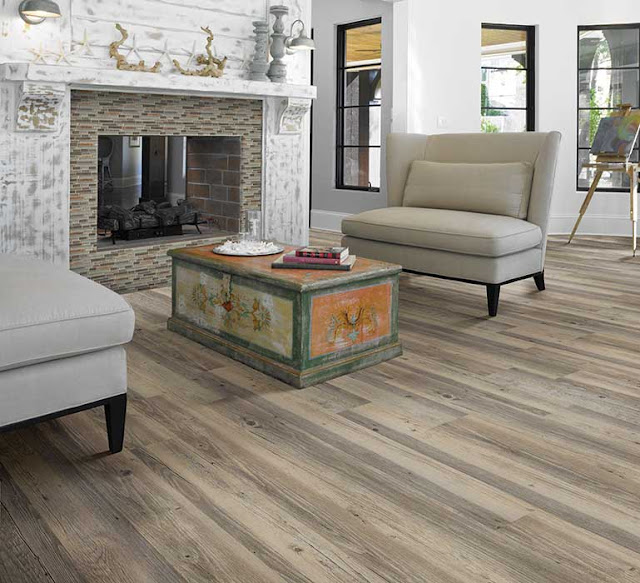 Mix shades of wood for a distinctly different floor