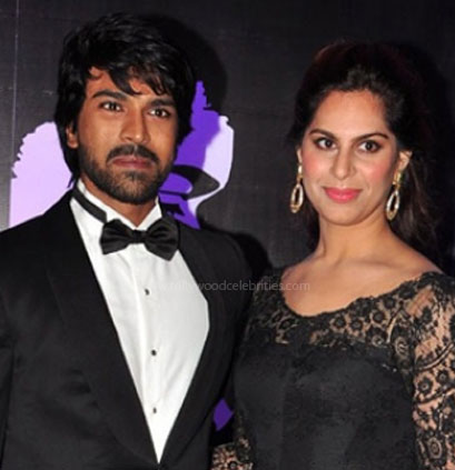 Ram Charan and his wife: