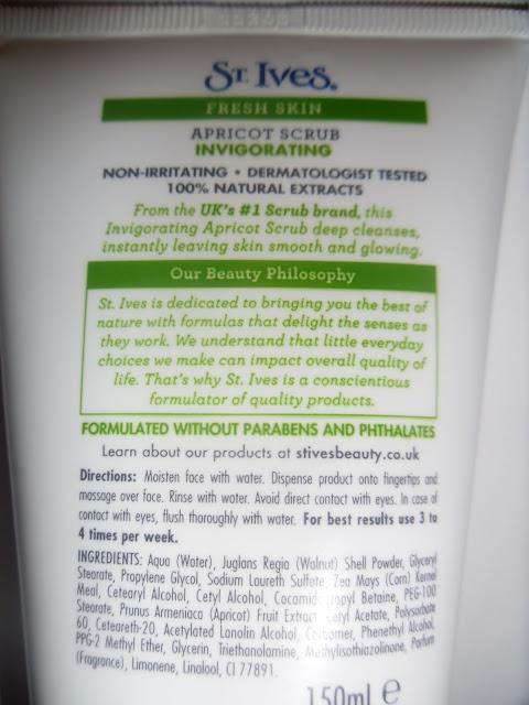 Fresh Skin Apricot Scrub St Ives