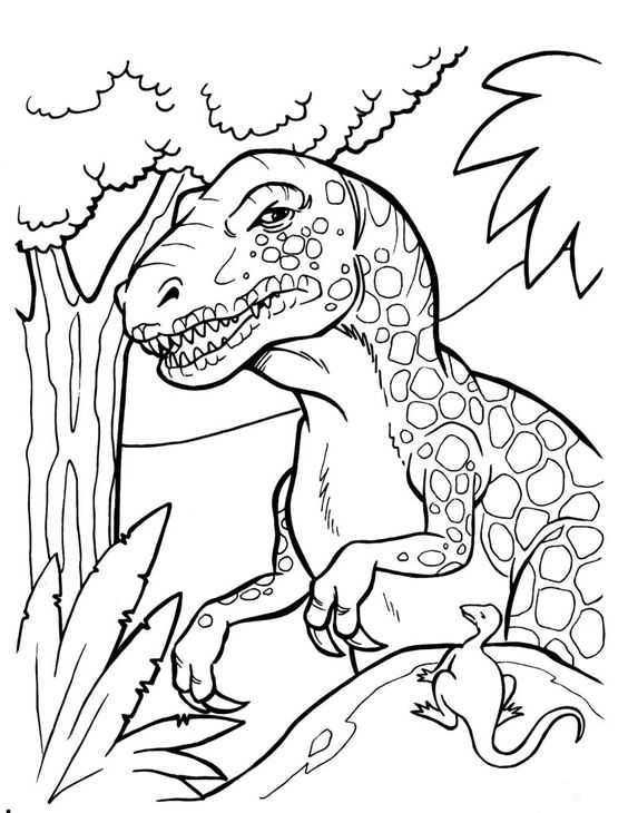 Tranh tô màu khủng long Majungasaurus