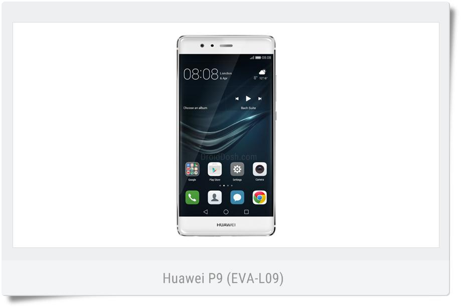 Download official firmware for the Huawei P9 EVA-L09 C432B166
