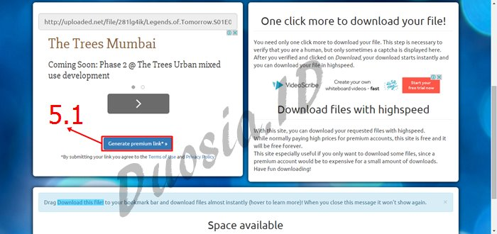 Cara Download di Uploaded.net Full Speed dan Tanpa Menunggu menggunakan uploaded-premium-link-generator.com Langkah ke 5
