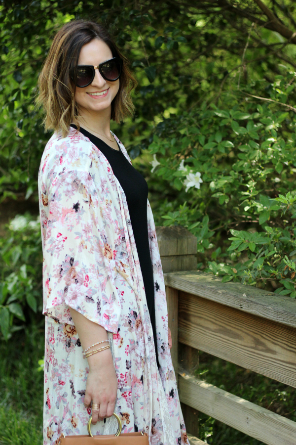 floral kimono, bohoblu, spring style, how to dress for spring, boho chic style