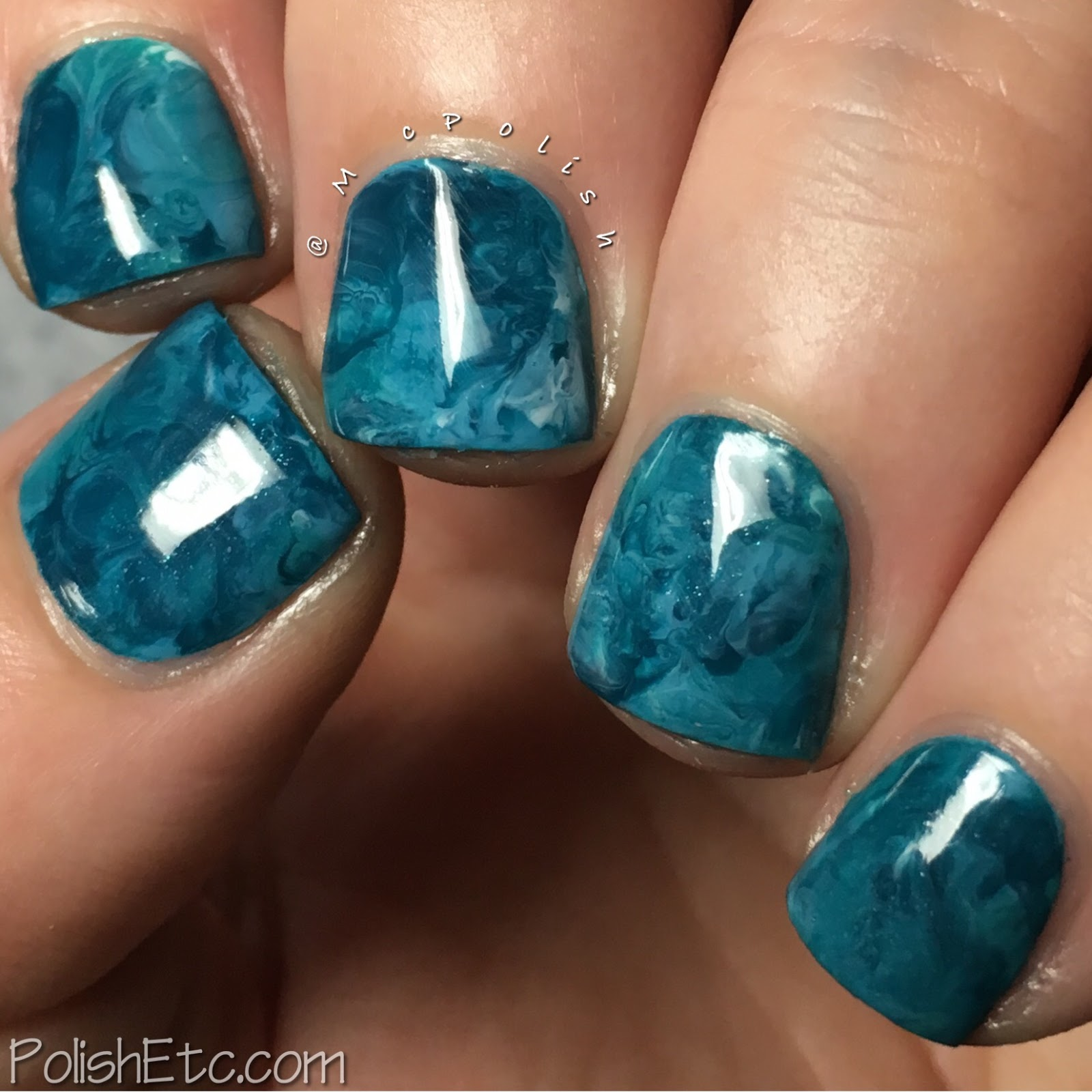 Inspired by Teal for the #31DC2017Weekly - McPolish - squishy marble mani