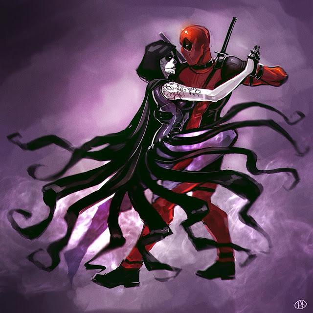 Muerte y su amante Deadpool