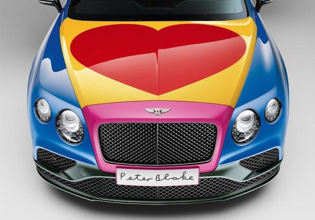 英国ポップアート界の巨匠ピーター・ブレイクが手掛けた超大胆なベントレー・コンチネンタルGTC。