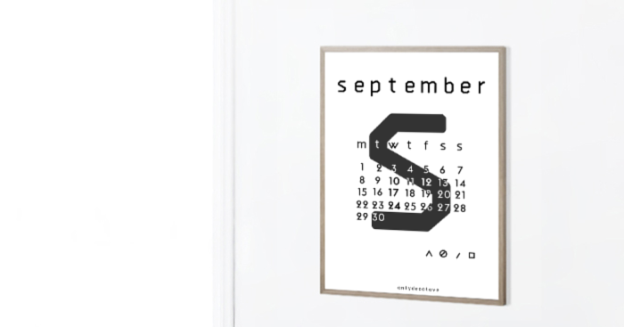 Only Deco Love: September 2014 Free Typographic Printable