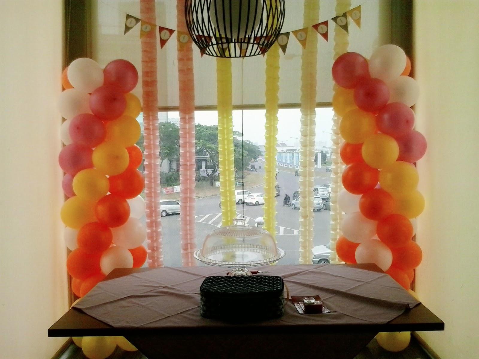 balon dekorasi sederhana