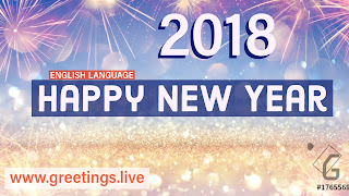 Bright Happy New Year 2018 Greetings