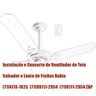 Instalação de ventilador de teto em Salvador