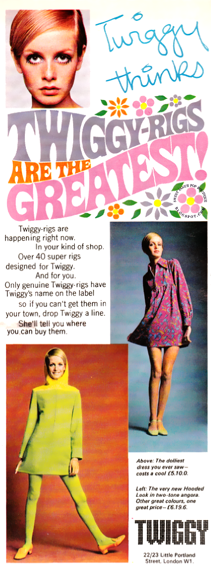 Twiggy advert 1960s