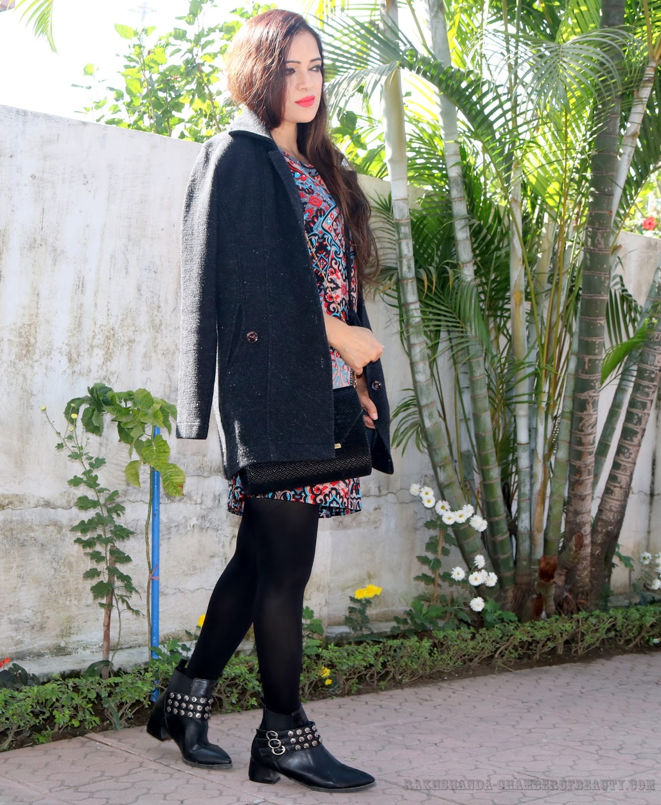 rakhshanda-chamberofbeauty.com/Chicuu Floral Shift Dress