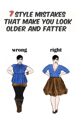 7 Style Mistakes That Make You Look Older And Fatter!