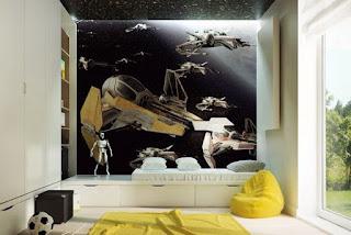 cuarto juvenil con mural
