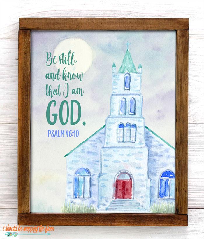 Psalm 46:10 Printable