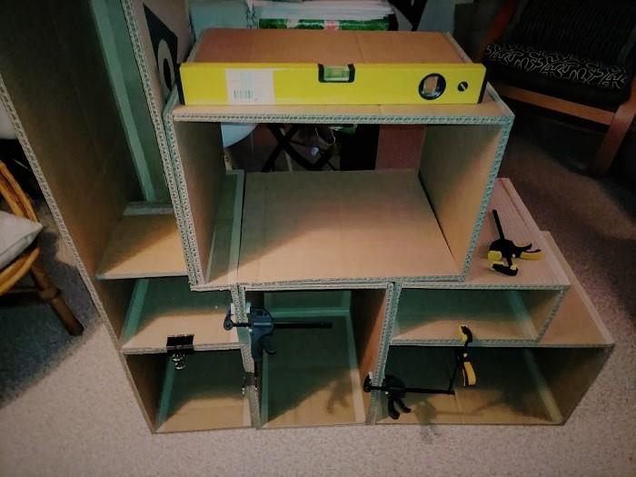 meuble rangement bureau en carton