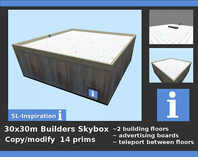 Builders Skybox for Second Life