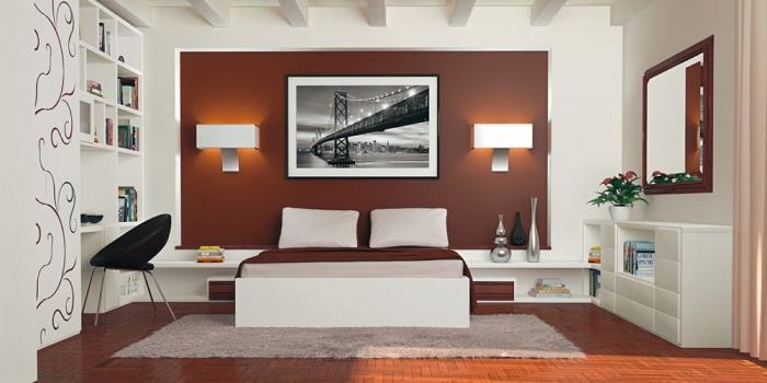 Decorar paredes de un dormitorio moderno dormitorios con for Pintura de dormitorios modernos