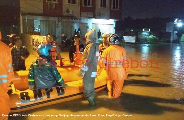 sejumlah wilayah kota cirebon terendam banjir
