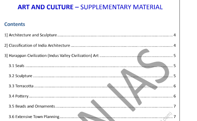 VisionIAS Art and Culture Notes PDF Download