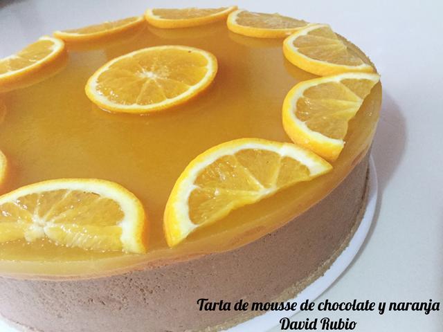 Tarta de mousse de chocolate y naranja