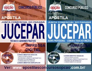 Apostila JUCEPAR Técnico Administrativo, Grátis CD ROM para o concurso 2017.