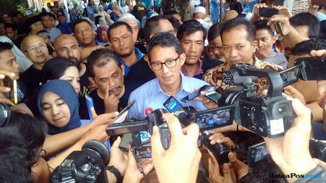 Tanggapi Sindiran Jokowi, Sandi: Konsultan Kami adalah Rakyat