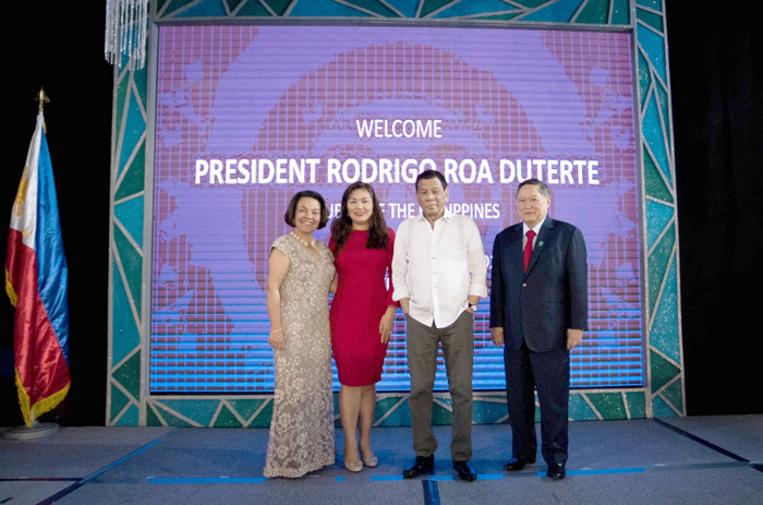 Mrs. Cynthia Dominguez, Honeylet Avanceña, PRRD, Secretary Carlos Dominguez