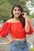Rhea Chakraborty in Red Crop Top and Denim Shorts Spicy Pics ~  Exclusive 305.JPG