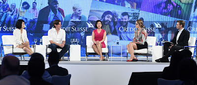 From left: Chauwei Yak, Anton Szpitalak, Pocket Sun, and Louise Huterstein, with Dan Murphy from CNBC as moderator.