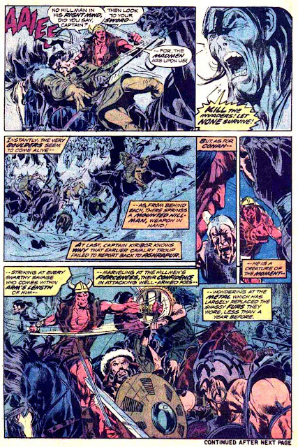 Conan the Barbarian v1 #37 marvel comic book page art by Neal Adams