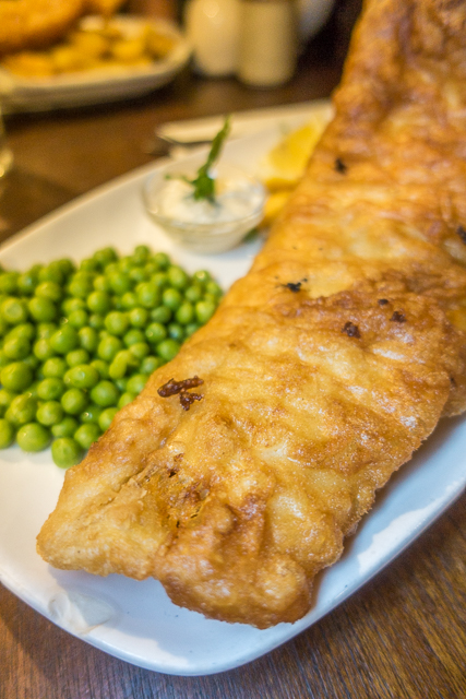 Fish and Chips at a London Pub