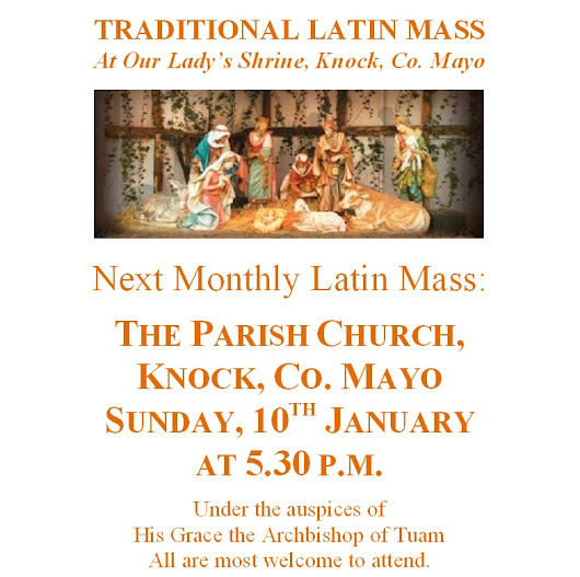 January 2016 Monthly Latin Mass in Knock