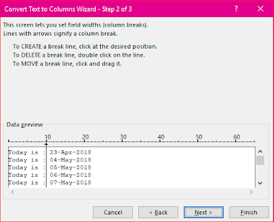 Excel Split Cells by Text to Column Option
