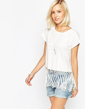 Vero moda t-shirt with fringe hem, $18.64 from ASOS
