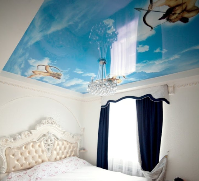 awesome stretch ceiling for bedroom