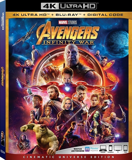 Avengers: Infinity War 4K (2018) 2160p 4K UltraHD HDR BluRay REMUX 62GB mkv Dual Audio Dolby TrueHD ATMOS 7.1 ch