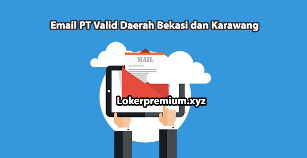89 Email PT Valid Daerah Bekasi dan Karawang